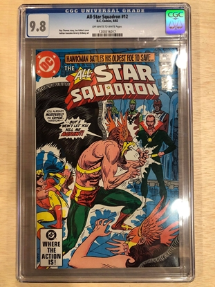 Picture of ALL STAR SQUADRON #12 / CGC 9.8 NM/MT KUBERT HAWMAN COVER