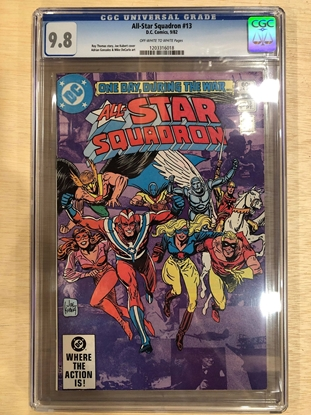 Picture of ALL STAR SQUADRON #13 / CGC 9.8 NM/MT KUBERT, ROY THOMAS