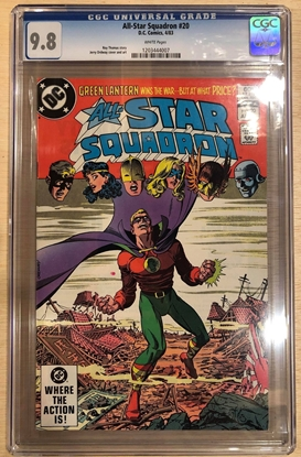Picture of ALL STAR SQUADRON #20 / CGC 9.8 NM/MT GREEN LANTERN ORDWAY COVER / WHITE PAGES