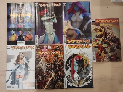 Picture of INFERNO #1 COVERS A B C D E F & G VARIANT SET