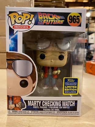 Picture of FUNKO POP MOVIES BACK TO THE FUTURE MARTY CHECKING WATCH #965 NEW VINYL FIGURE