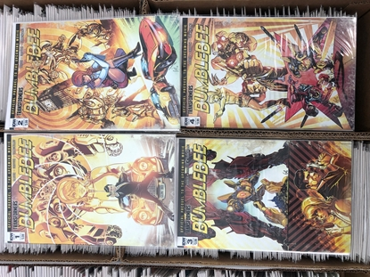 Picture of TRANSFORMERS BUMBLEBEE MOVIE PREQUEL #1 2 3 4 / COVER B VARIANT SET NM IDW