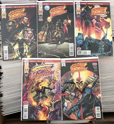 """Picture of SPIRITS OF VENGEANCE #1 2 3 4 5 / """"WAR AT THE GATES OF HELL"""" 1ST PRINT SET NM"""