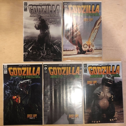 Picture of GODZILLA MONSTERS & PROTECTORS #1 2 3 4 5 / COVER B PHOTO VARIANT SET NM