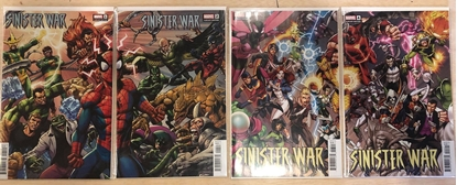 Picture of SPIDER-MAN SINISTER WAR #1 2 3 4 / CONNECTING COVER SET / SPENCER-HITCH NM