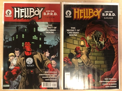 Picture of HELLBOY & BPRD SECRET OF CHESBRO HOUSE #1 & 2 / COVER A SET BY MIGNOLA-MCMANUS NM