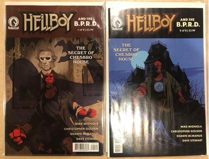Picture of HELLBOY & BPRD SECRET OF CHESBRO HOUSE #1 & 2 BY MIGNOLA-STENBECK SET