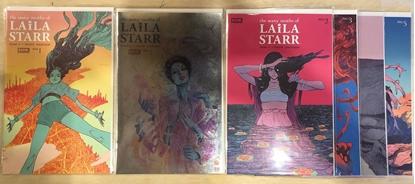 Picture of MANY DEATHS OF LAILA STARR #1 2 3 4 5 + #1 FOIL VARIANT / V RAM BOOM! COMICS SET NM