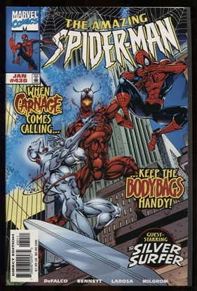 Picture of AMAZING SPIDER-MAN #430 / 1ST CARNAGE SURFER COSMIC NM-