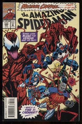 Picture of AMAZING SPIDER-MAN #380 9.2 NM- MAXIMUM CARNAGE PART 11 DIRECT