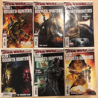 Picture of STAR WARS BOUNTY HUNTERS #1 2 3 4 5 + ALPHA / 1ST PRINT SET NM