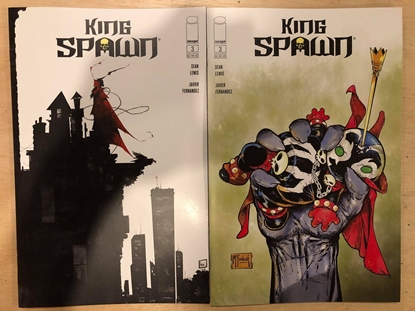 Picture of KING SPAWN #3 / COVER A + B VARIANT SET GLAPION NM