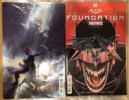 Picture of BATMAN FORTNITE ONE SHOT #1 COVER A+B VARIANT SET NM