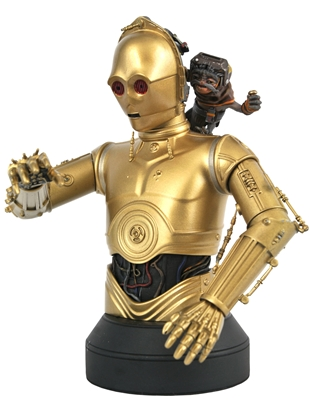 Picture of STAR WARS THE RISE OF SKYWALKER C3PO & BABU FRIK 1:6 BUST